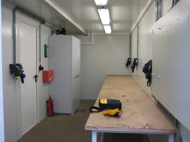 inrichting werkplaatscontainer