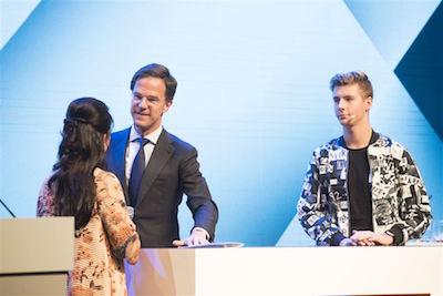 MKB jaarcongres podiumgesprek Kristel Groenenboom met minister-president Rutte