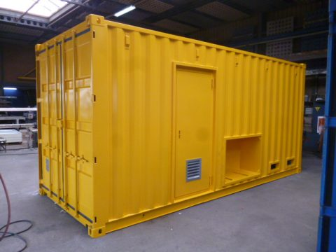 Container geel