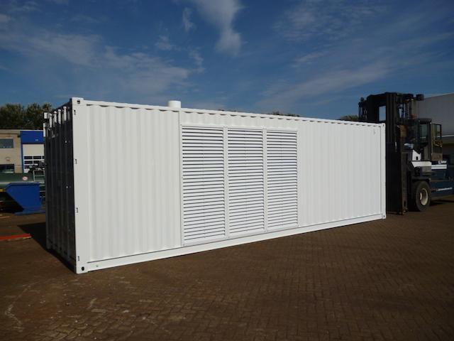 Witte container zijkant