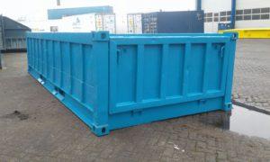 Half hoge container