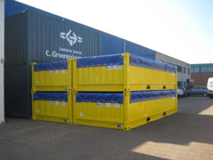 20ft halve hoge containers