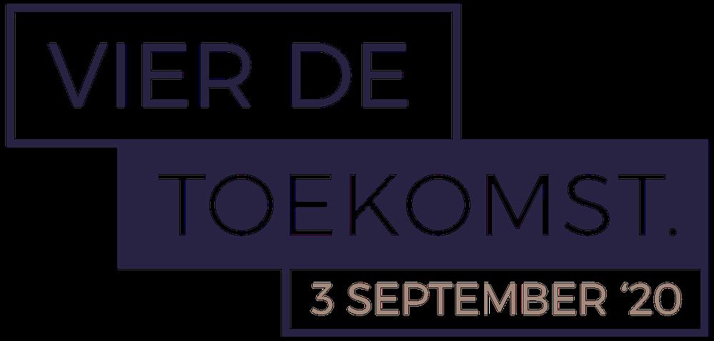 Vier de Toekomst event logo